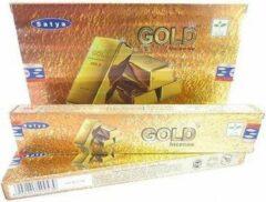 Groene Green Tree Candle Company Green Tree Wierook-Gold-Satya-Box-12 pakjes a 15 stokjes