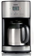 Zilveren Domo DO474K - Koffiezetapparaat met thermoskan - 1,2L - Timer - RVS