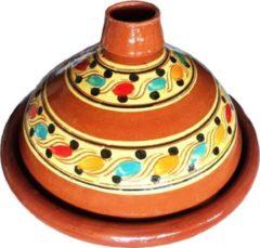 Bruine Marocstore.nl Marokkaanse Originele Tajine - Aardewerk - Ø 35 Cm