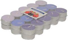 Roze 30x stuks Waxinelichtjes/theelichten bosvruchten geurkaarsen 4 branduren - Woon accessoires kaarsen