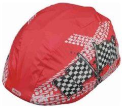 ABUS - Kid's Regenkappe - Fietshelm maat One Size, rood/roze/grijs