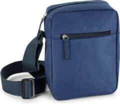Blauw Schoudertasje Voor Volwassenen 18 X 22 Cm - Blauwe Schoudertassen Voor Op Reis/onderweg