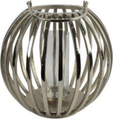 Luxury Label Windlicht Macey 41 X 39 Cm Staal Zilver