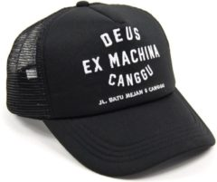 Zwarte Deus Ex Machina DEUS Canggu Address Trucker cap - Black