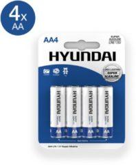 Hyundai Battery Hyundai - AA Batterijen - Alkaline - 4 stuks