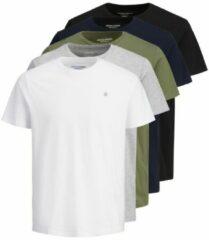 Witte JACK & JONES 5-pack T-shirt Heren White