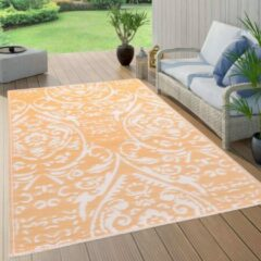 VidaXL Buitenkleed 80x150 cm PP oranje en wit