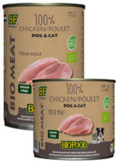 Biofood organic hond 100% kip blik hondenvoer 400 gr