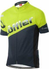 Löffler - Bike Jersey Full-Zip Messenger - Fietsshirt maat 52, zwart/groen