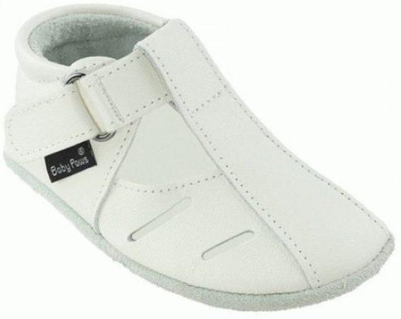 Afbeelding van Witte Baby Paws babyslofjes Sutton Wit maat 2 = ( 11,2 cm)