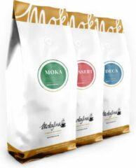 Mokafina Variatiepakket gemalen koffie - 3x 500g - (dessert, mokka, deca)