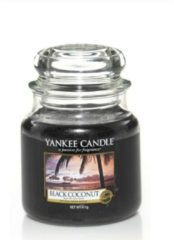 Zwarte Yankee Candle Medium Jar Geurkaars - Black Coconut