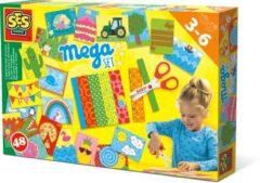 SES Ik leer knippen - Hobbypakket - Mega set - Knutselen voor kinderen