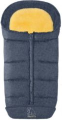 Schapenvachten Online Premium lamsvacht voetenzak gemeleerd blauw met uitneembaar lamsvel