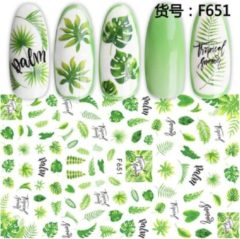 GUAPÀ - Nail Art 3D groen Stickers - Nagel Decoratie & Nagel Folie - 78 Stuks