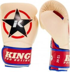 King Pro Boxing King (kick)bokshandschoenen Vintage 1 Beige 14oz
