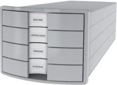Licht-grijze HAN IMPULS 2.0 1012-11 Desk drawer box Light grey A4, C4 No. of drawers: 4