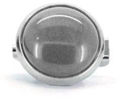 Qoss Broche Grijze Steen - 12mm