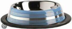 Pet Products Rvs Eet Drinkb Stripes Anti - Blauw 11cm