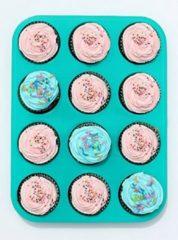 Audrey Trading Cupcake Bakvorm - 12 Cupcakes - Blauw - Siliconen
