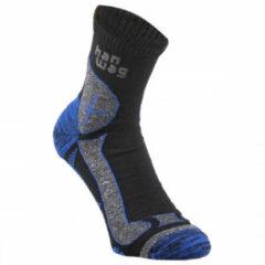 Hanwag - Hanwag Trek-Merino Socke - Wandelsokken maat 39-41, zwart/grijs/blauw