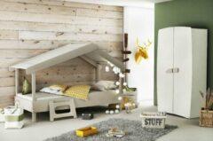 Grijze Meubles Demeyere Huisbed Tree + Matras 90x200