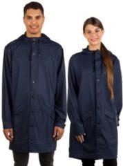 RAINS Long Jacket - Blue - XS-S - Navy