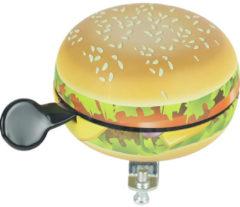 Bruine Widek Bel Ding Dong Food Hamburger Mat Op Kaart