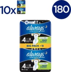Always Ultra Secure Night - 180 Stuks - Maandverband Met Vleugels