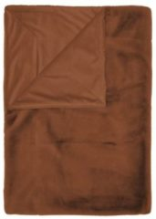 Bruine Essenza Furry - Plaid - 150x200 cm - Leather Brown