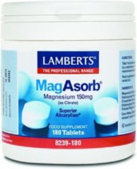 Lamberts MagAsorb (magnesium citraat) 150 mg 180 Tabletten