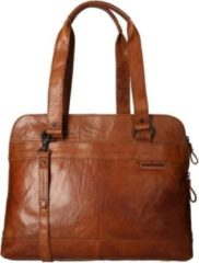 Spikes & Sparrow Laptoptas Bronco Leer - cognac
