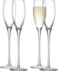 Transparante LSA International L.S.A. Wine Drinken Champagne Glazen - 200 ml - Set van 4 Glazen