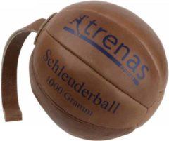 Bruine Trenas - Slingerbal - Schleuderball - Leer - 1 kg - Ø 21cm - Lus lengte 28 cm