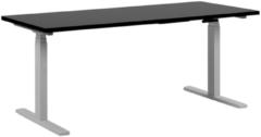 Beliani Bureau elektrisch verstelbaar zwart/wit 160 x 72 cm DESTIN II