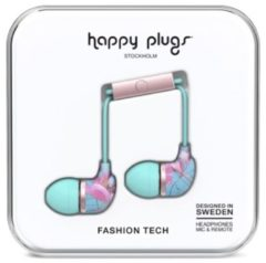 "Roze ""Happy Plugs Hoofdtelefoon """"Botanica Exotica"""", In-Ear"""