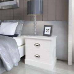 VidaXL Nachtkastjes Franse stijl 2 stuks wit