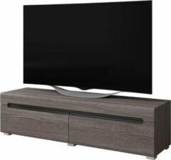 VDD TV kast TV meubel Taylor design 140 cm donkergrijs houtstructuur