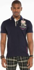 Marineblauwe Cipo & Baxx Poloshirt