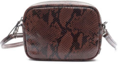 Bruine Zebra Trends Natural Bag Kartel NOVA - Snake Brown