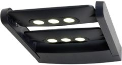 ECO-Light 6144 S2 gr Buiten LED-wandlamp Energielabel: LED (A++ - E) 18 W Antraciet