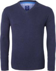 Redmond heren trui katoen - V-hals - marine blauw - Maat XXXXL