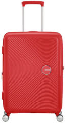 Koraalrode American Tourister Reiskoffer - Soundbox Spinner 67/24 Tsa Uitbreidbaar (Medium) Coral Red