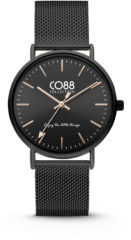 CO88 Collection Watches 8CW 10013 Horloge - Mesh Band - Ø 36 mm - Zwart