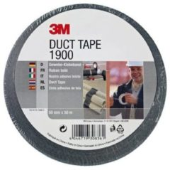 Scotch Plakband 3M 1900 Duct Tape 50mmx50m zwart