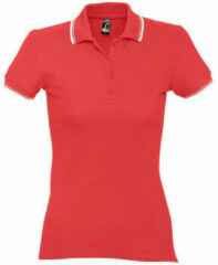 Rode Polo Shirt Korte Mouw Sols PRACTICE GOLF SPORT