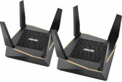 ASUS AiMesh AX6100 draadloze router Tri-band (2.4 GHz / 5 GHz / 5 GHz) Gigabit Ethernet Zwart