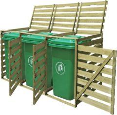 VidaXL Containerberging geïmpregneerd driedubbel hout 240 L