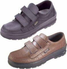 Grijze Merkloos / Sans marque Comfortabele wandelschoenen met klittenband maat 45