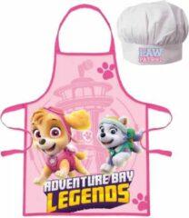 Roze Nickelodeon Paw Patrol Skye schort met koksmuts 3-8 jaar